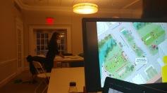 Watching presentation by Marie Law Adams and Dan Adams of Landing Studio