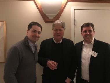 City Councilor Josh Zakim, Parker James and State Representative Jay Livingstone